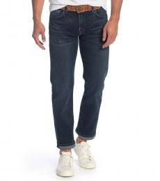 Dark Blue Active Straight Leg Jeans