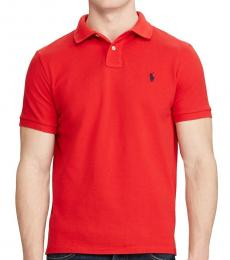Ralph Lauren Red Classic Fit Mesh Polo