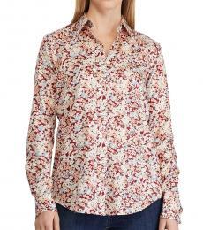 Multi color Floral-Print Shirt