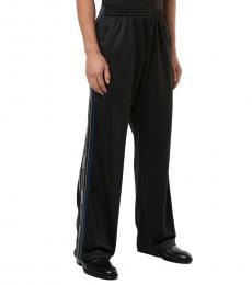 Black Side-Stripe Track Pants