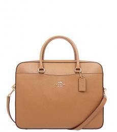 Coach Light Saddle Laptop Large Briefcase Bag