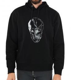 Black Skull Printed Sweatshirt