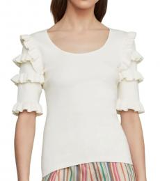 BCBGMaxazria Gardenia Ruffle Sleeve Sweater Top