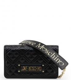 Love Moschino Black Logo Strap Small Crossbody