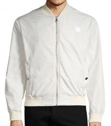Versace Collection White Logo Embroidered Jacket