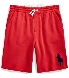 Ralph Lauren Boys Evening Post Red Big Pony Shorts