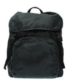 Valentino Garavani Black Solid Medium Backpack