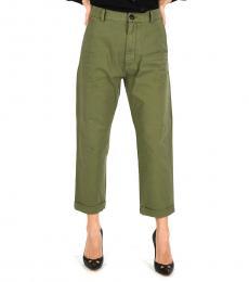 Olive Cotton Dennis Fit Pants