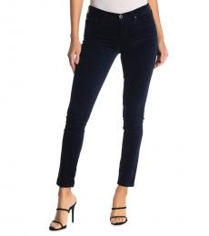 AG Adriano Goldschmied Navy Blue Legging Ankle Super Skinny Jeans