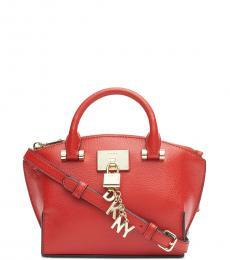 DKNY Bright Red Elissa Mini Satchel