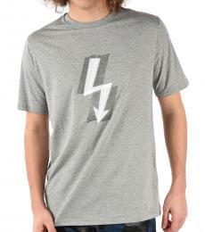 Grey Oversized Thunderbolt T-Shirt