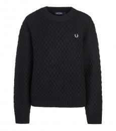 Fred Perry Black Crew Neck Sweatshirt