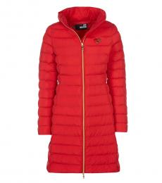 Love Moschino Red Long Coat Jacket
