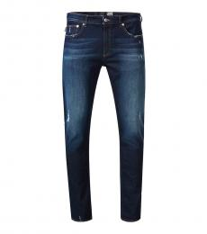 Dark Blue Figure Hugging Cut Jeans