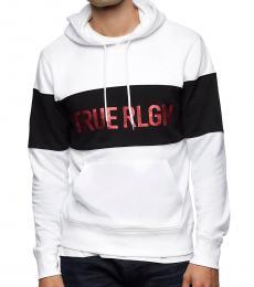 True Religion White Logo Hoodie