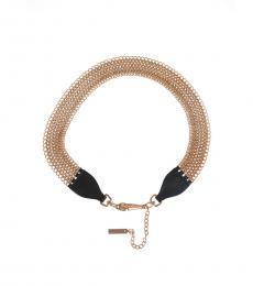 Prada Black-Gold Chain Leather Belt