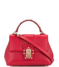 Dolce & Gabbana Red Lucia Small Satchel