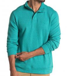 Tommy Bahama Green Pina Port Half Zip Pullover