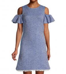 Kate Spade Blue Printed A-Line Dress