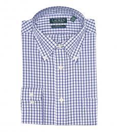 Ralph Lauren Navy Blue Check Regular Fit Dress Shirt