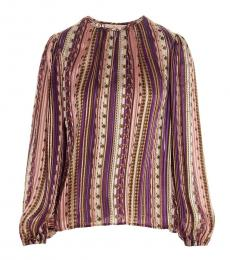 Tory Burch Multicolor Wandering Stripes Blouse