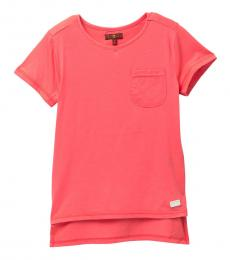 7 For All Mankind Girls Coral High-Low T-Shirt