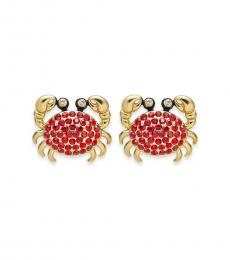 Kate Spade Gold Pave Crab Studs Earrings