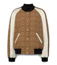Coach Khaki Multi Reversible Souvenir Jacket