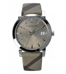 Burberry Beige-Brown Haymarket Watch