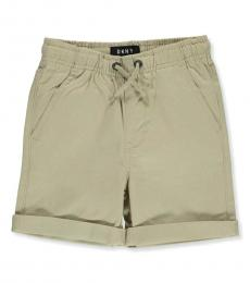 DKNY Little Boys Light Khaki Cuffed Twill Shorts