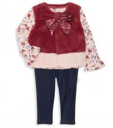 3 Piece Vest/Top/Pants Set (Baby Girls)