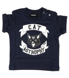 Diesel Baby Boys Navy Cat T-Shirt