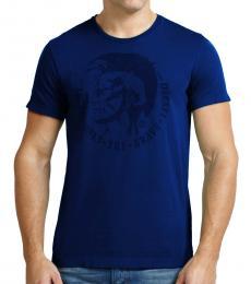 Diesel Blue Mohawk Logo Casual T-Shirt