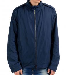 Navy Full Zip Windbreaker Jacket