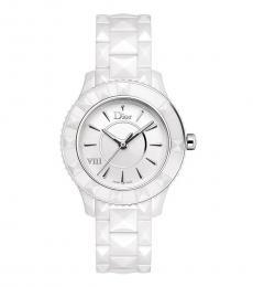 Christian Dior White Ceramic Watch