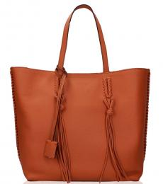 Tod's Orange Shopper Medium Tote