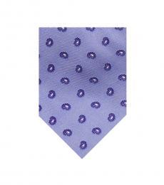Burberry Purple Timeless Paisley Print Silk Tie