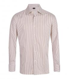 Zegna Red White Striped Shirt