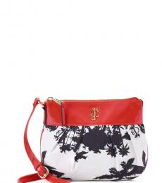 Juicy Couture White & Orange Aloha Medium Crossbody