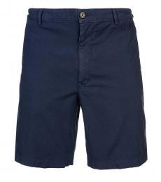 Kenzo Dark Blue Solid Shorts
