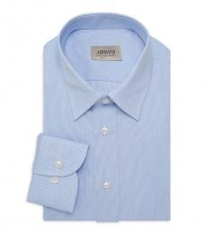 Blue Hairline Stripe Dress Shirt