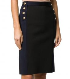 Givenchy Black High Rise Two Tone Skirt
