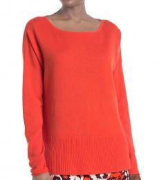 Peach Cashmere Knit Sweater