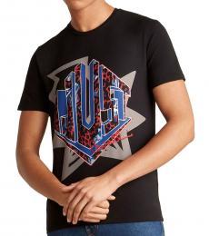 Black Cursive Logo T-Shirt