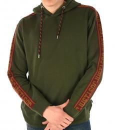 Green Logo Hoodie Sweatshirt