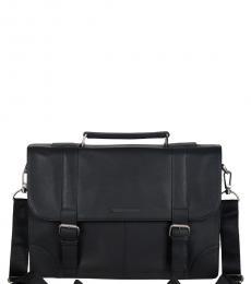 Ben Sherman Black Premium Large Briefcase Bag