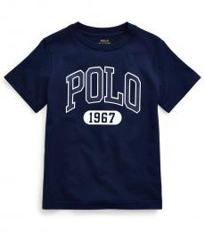 Little Boys Cruise Navy Jersey Graphic T-Shirt