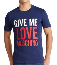 Electric Blue Give Me Graphic T-Shirt