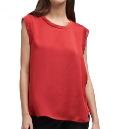 Red Cap Sleeve Foundation Top
