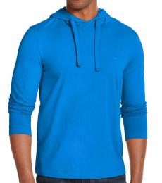 Michael Kors Pop Blue Luxe Cotton Hoodie